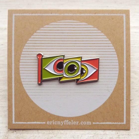 Image of Eyeflag Enamel Pin