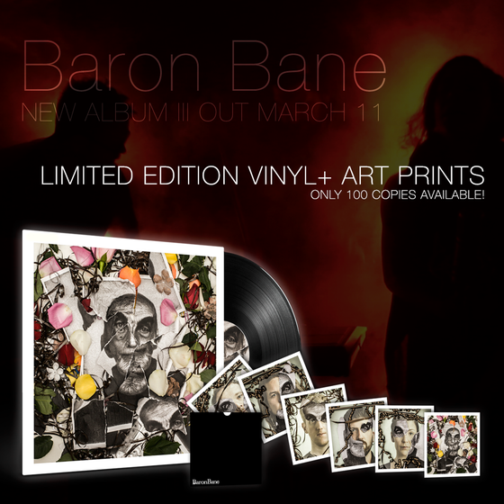 Image of Baron Bane - III (black vinyl LP + art prints)