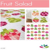 Image of Fruit Salad Ombre Fabric Quilt PDF Pattern