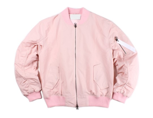 SIMPLICITY UNLIMITED — LIMITED EDITION Bomber Jacket // Baby Pink
