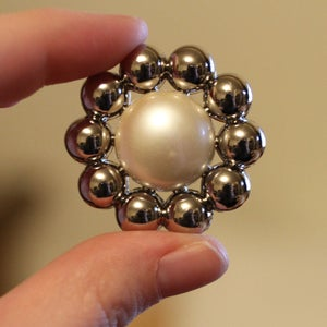 "Image of Big Silver Pearl Plugs (sizes 1""-1 3/8)"