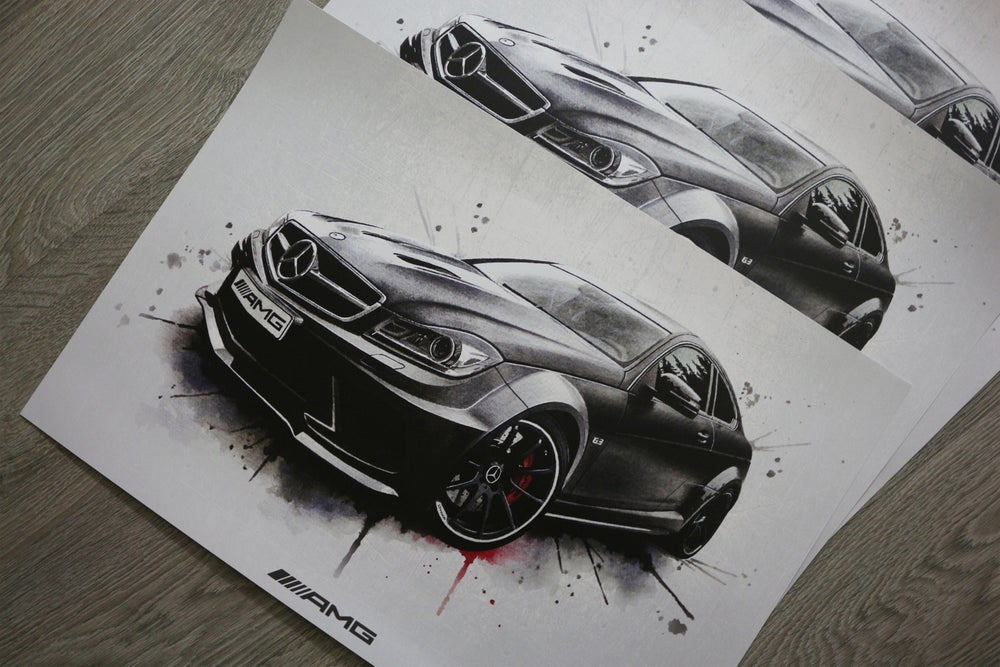 Image of Mercedes C63 AMG Black Series Poster Print