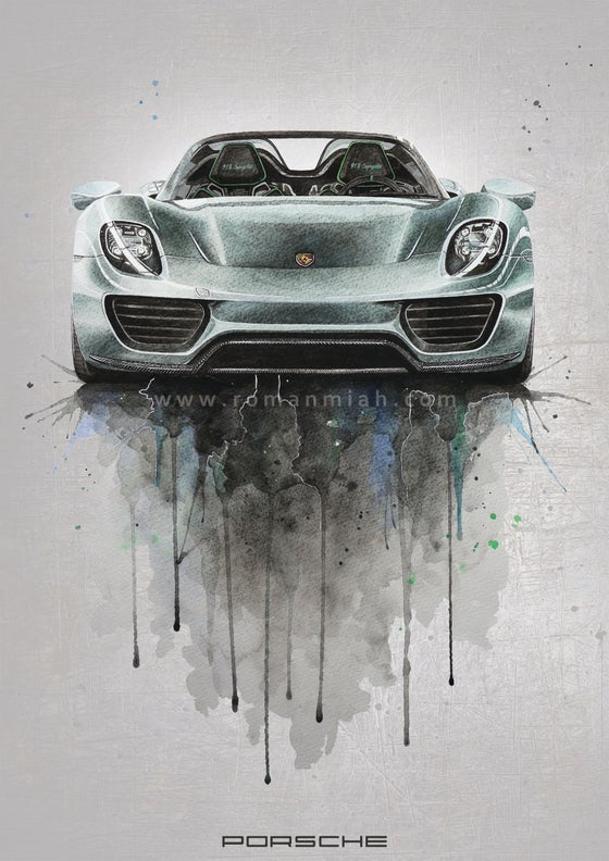 Image of Porsche 918 Poster Print