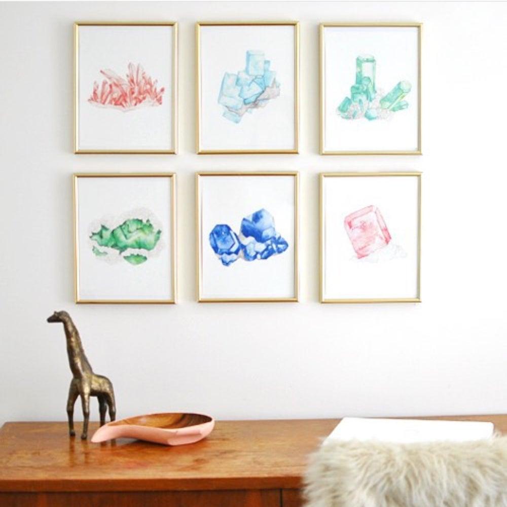 Image of Vintau Blue Quartz Watercolor Print