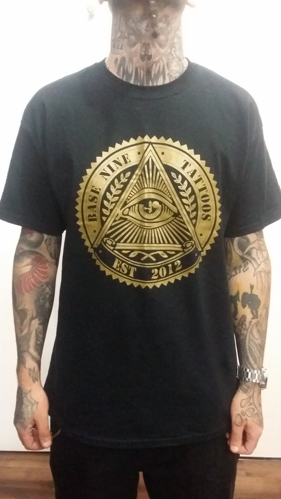 Image of Base 9 Logo gold Tee