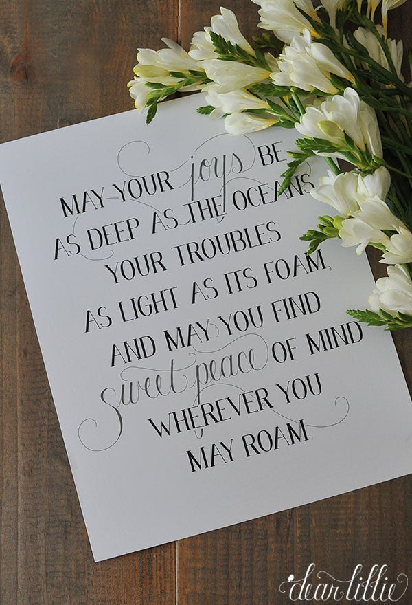 Image of May Your Joys 11x14 Print in White