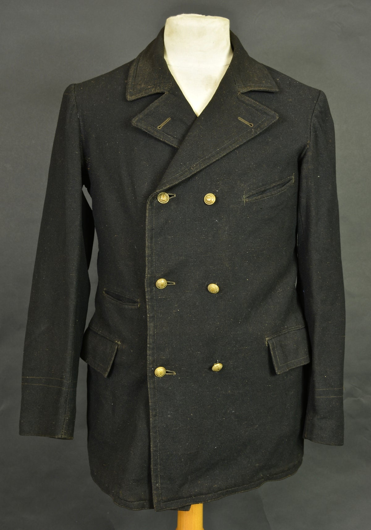 Image of 1900'S FRENCH ENGINEER DOUBLE BREASTED WOOLEN JACKET