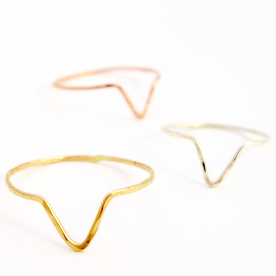 Image of Chevron Stacking Ring