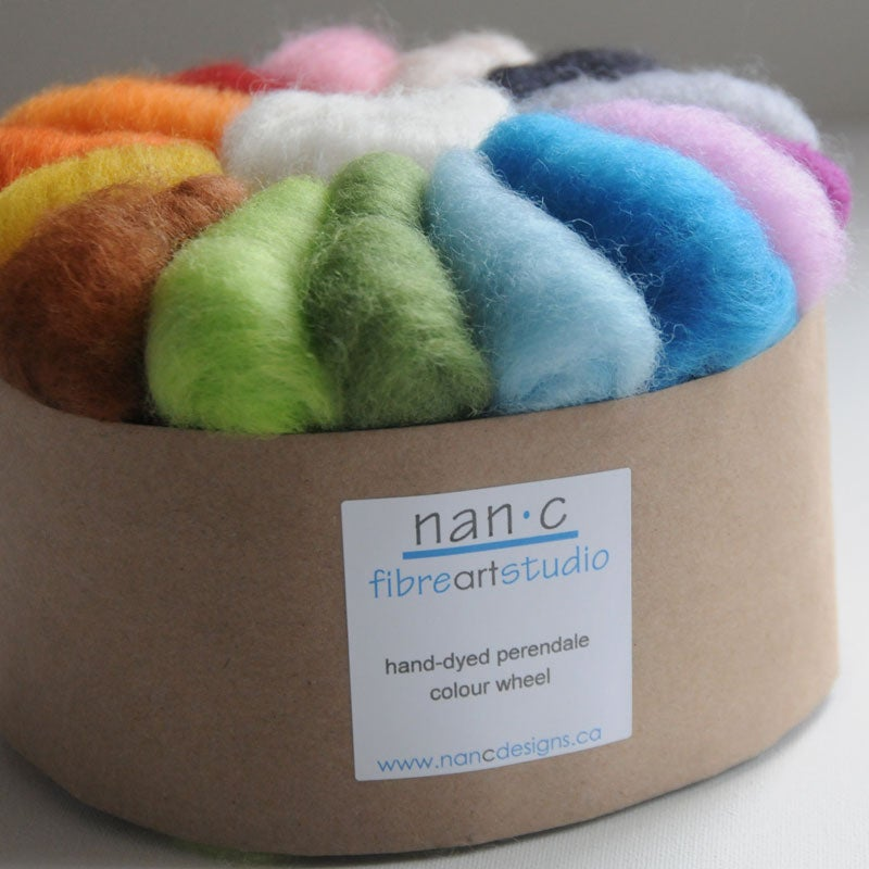 Image of Colour Wheel - hand dyed wool