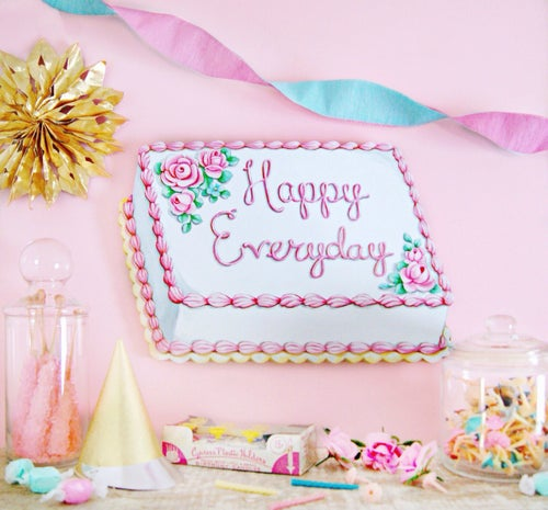 Image of Happy Everyday cake plaque