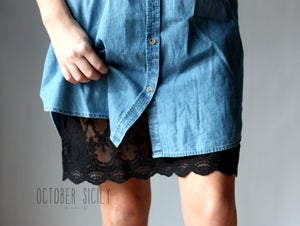 Image of Full Slip Lace Slip Dress Extender *Style 2* Small-4XL & Tall Available