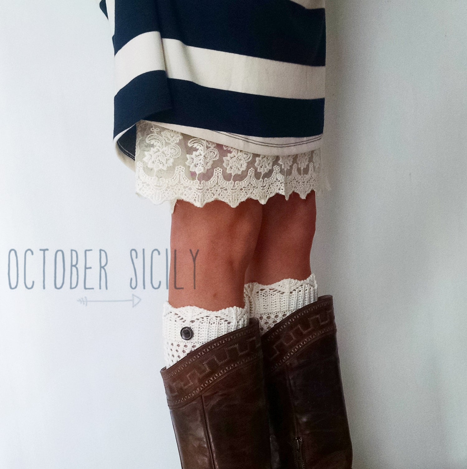 Image of Knit Button Boot Cuff, 3 colors