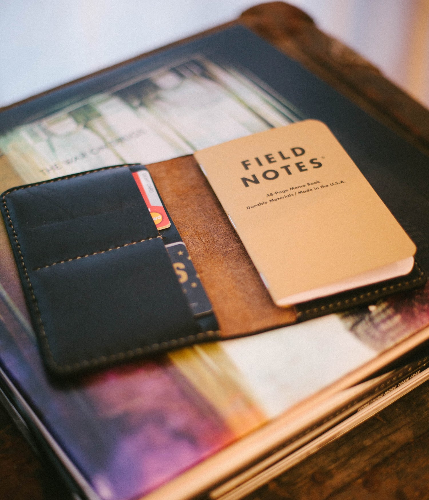 Image of Black Notebook Wallet