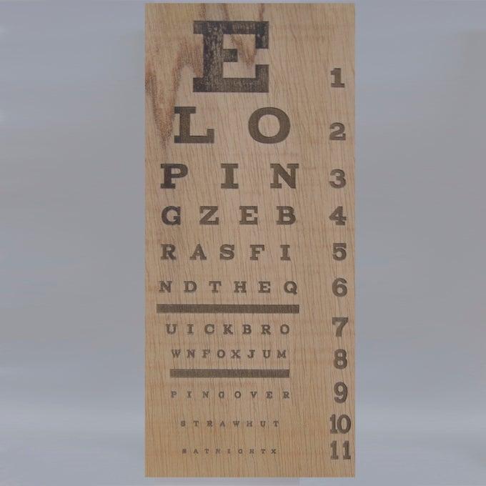 Image of eyesight chart
