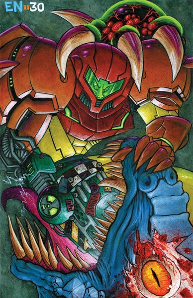 Image of 'Metroid' Art Print