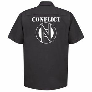 Image of Conflict Work Shirt - Logo on back