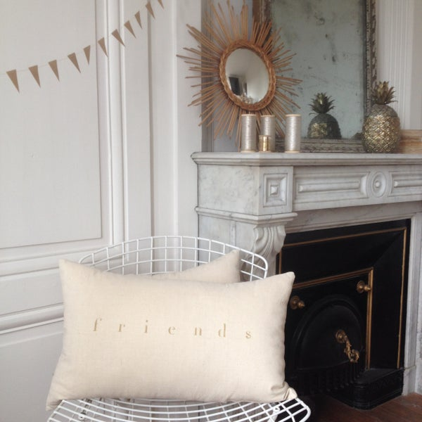 Image of Coussin écru friends or long