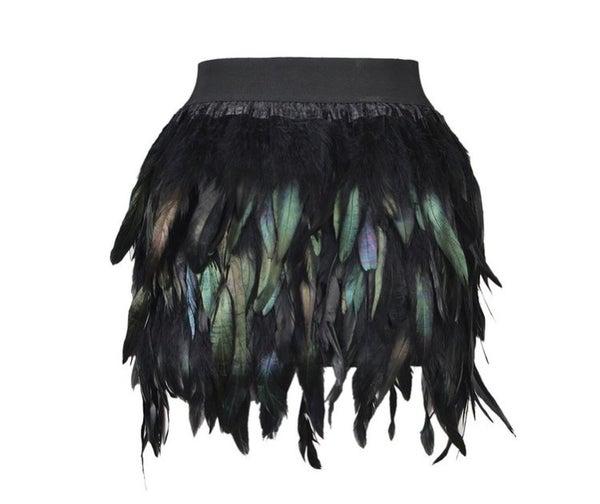 Image of Feathered mini skirt