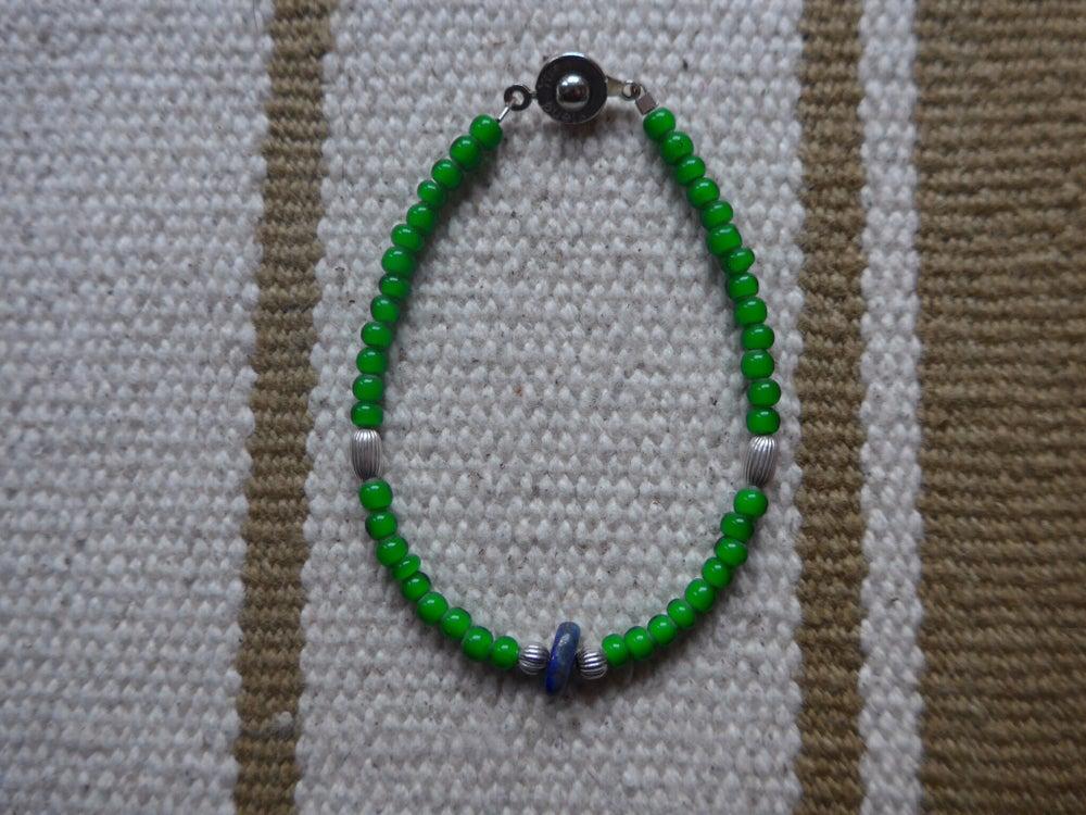 Image of Glass and Semi Precious Beaded Bracelets