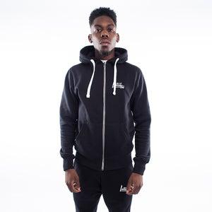 Black Edge Zip Hoodie - FREE UK DELIVERY