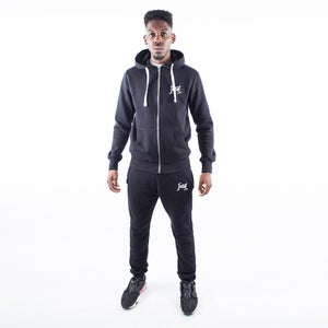 Black Signature Zip Tracksuit - FREE UK DELIVERY
