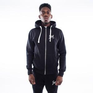 Black Signature Zip Hoodie - FREE UK DELIVERY