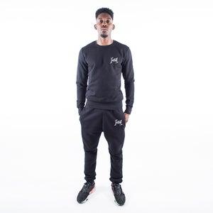 Black Signature Sweatshirt Tracksuit - FREE UK DELIVERY