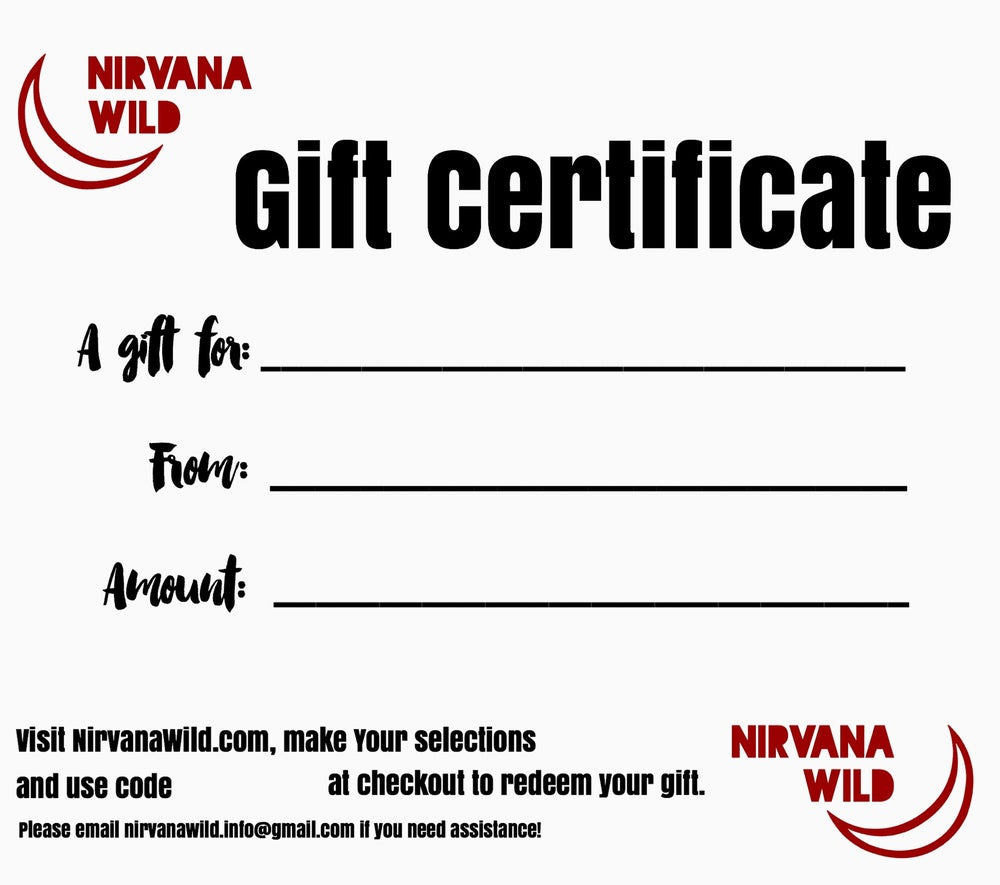 Image of { Gift Certificate } $20 & up
