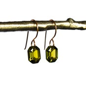 Image of Olive green octagon earrings
