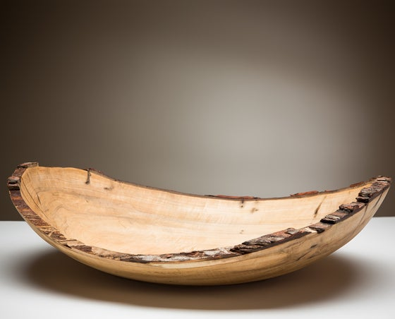 Image of Natural Edge/Bark edge Silver Maple Bowl