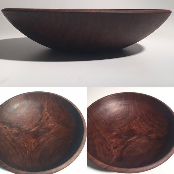 "Image of 13"" Black Walnut salad bowl"