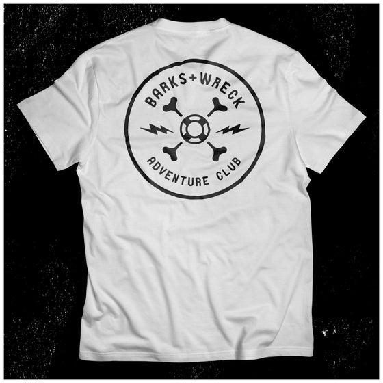 Image of ADVENTURE CLUB Pocket T-Shirt:  WHITE