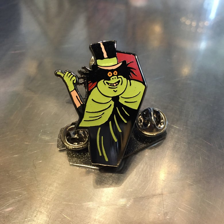 Image of Hitchhiking Ghost enamel pin
