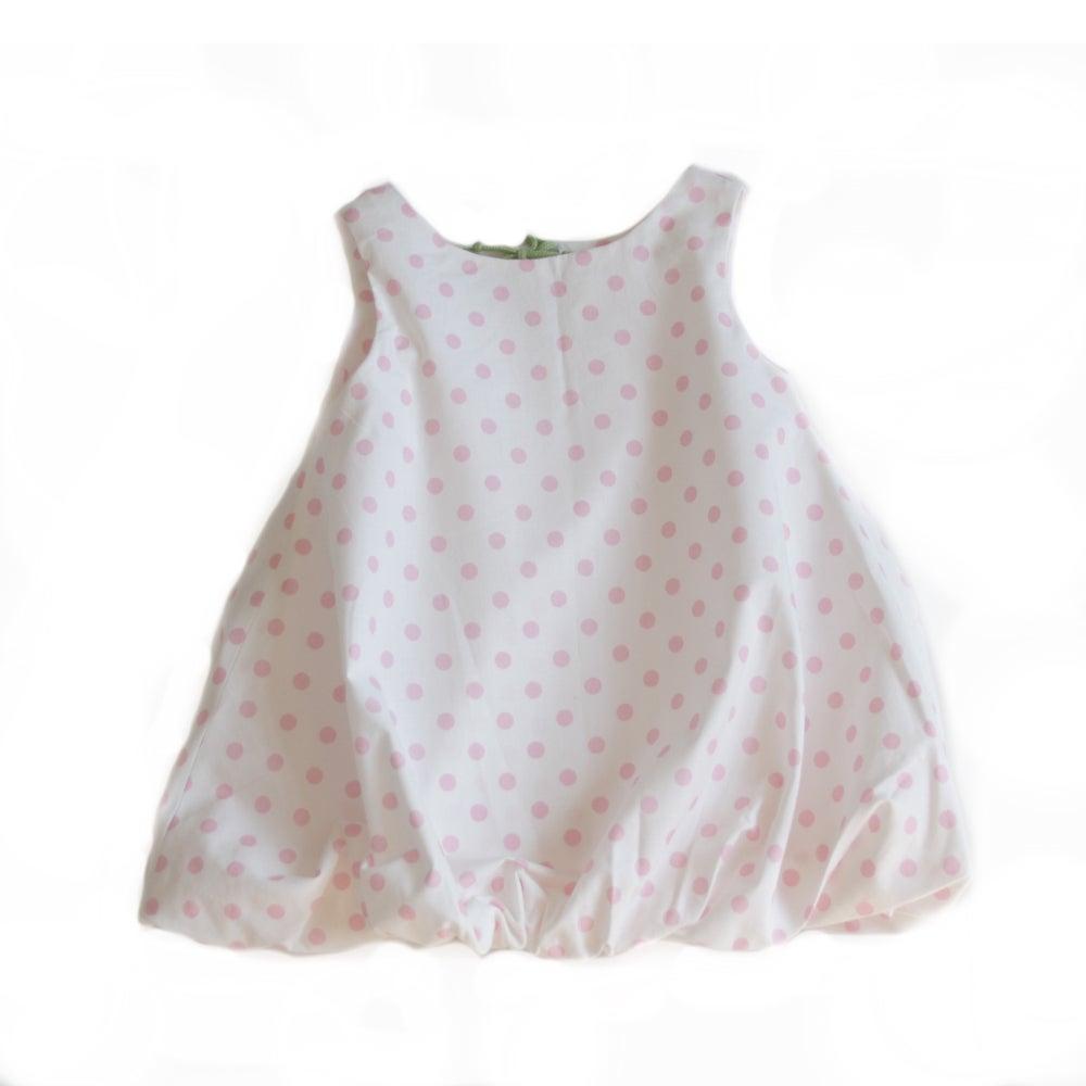 Image of Balloon Dress-pink dot
