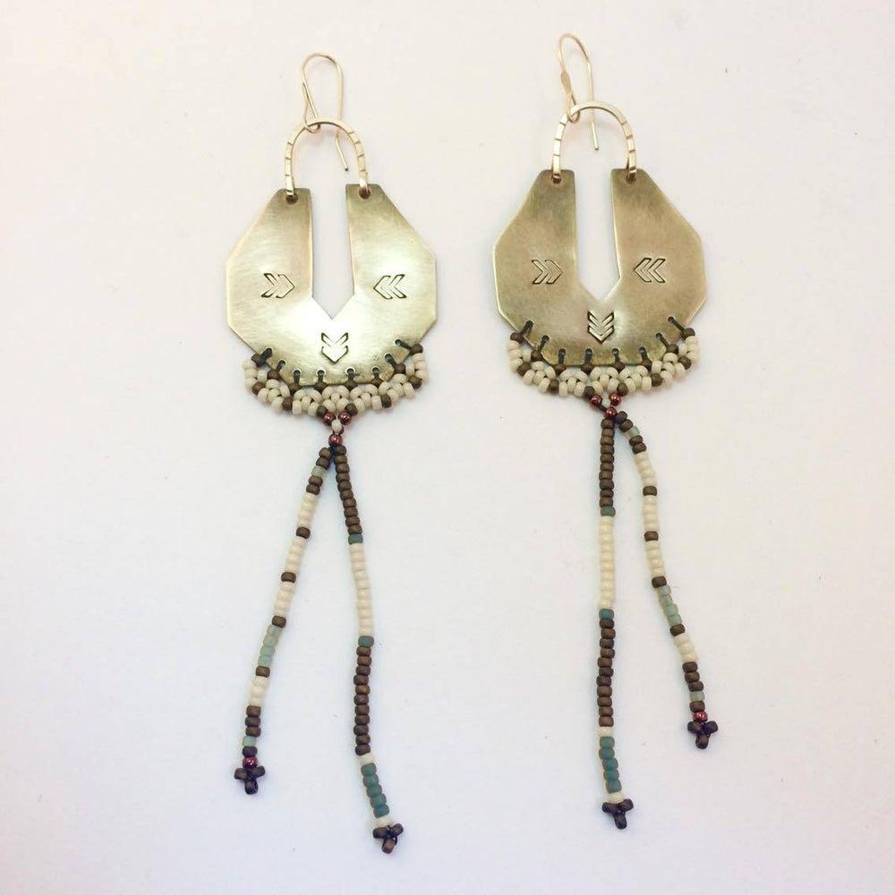 Image of Chevron Serpentina Earrings