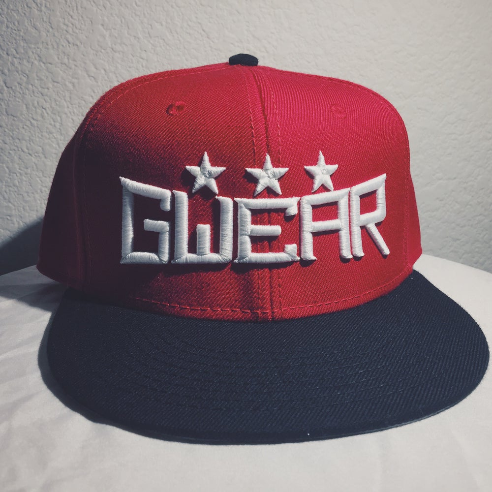 Image of Red 3Star Snapback