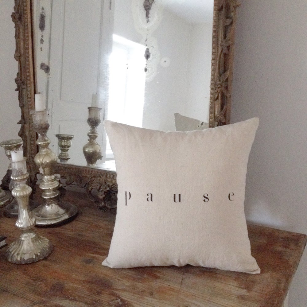 Image of coussin écru pause small