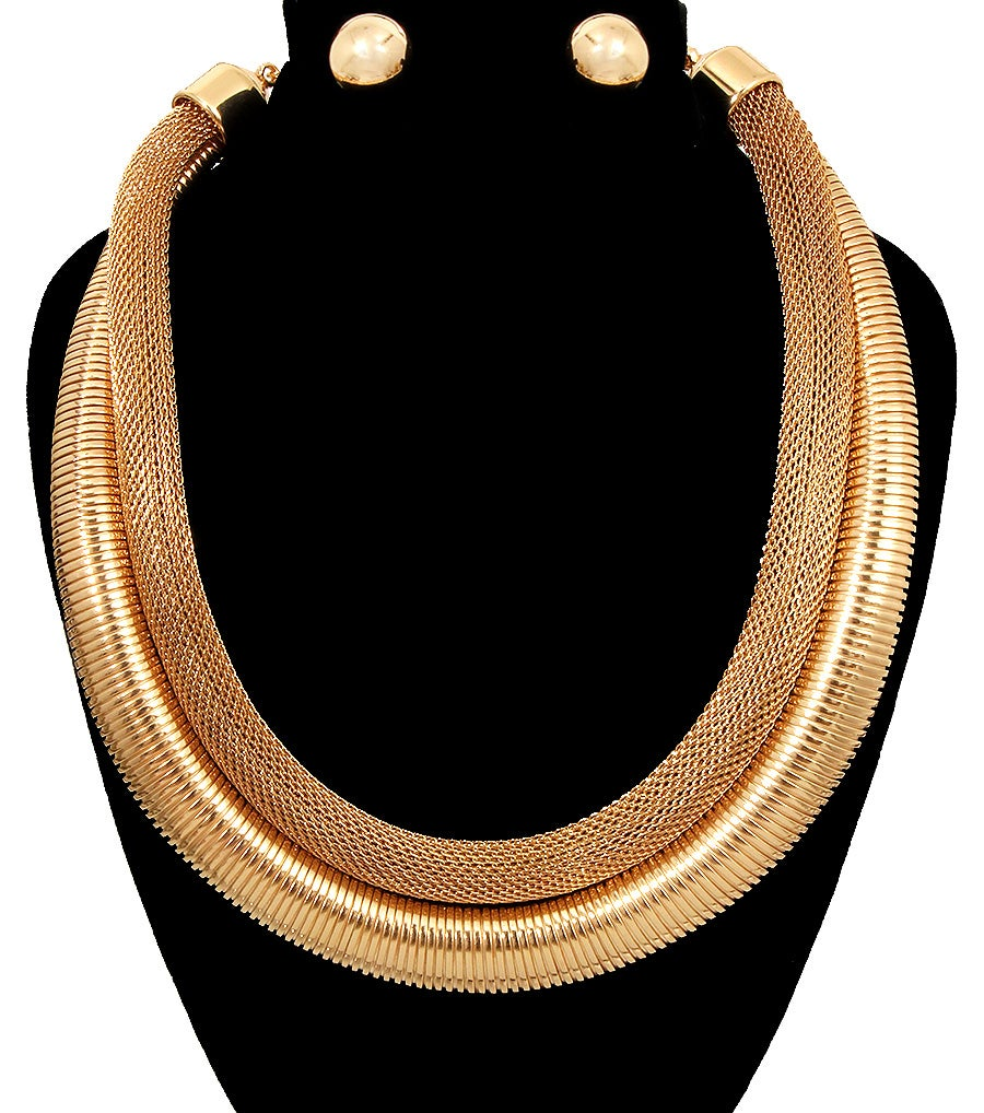 Image of Double Chain Necklace Set