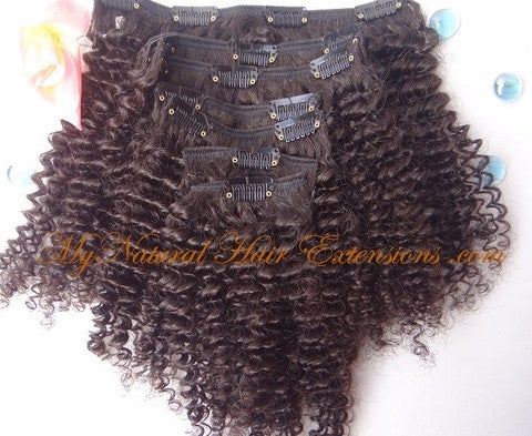 Image of Kinky Curly Clip-On Hair Extensions