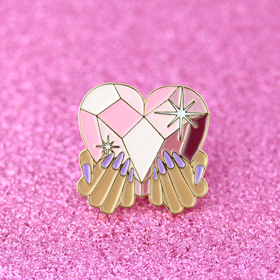 "Image of NAILgasm 2 LIMITED EDITION ""Queen of Hearts"" Pin"