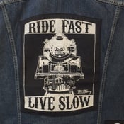 """Image of """"RIDE FAST, LIVE SLOW"""" -BACK PATCH (Limited)"""