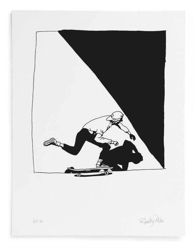 "Image of Ramsey Dau - J.Grant Brittain/Swank ""Push"" Serigraph Print"