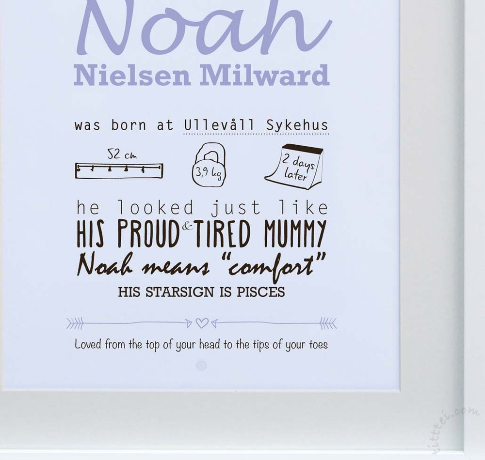 Image of Personalized birth poster