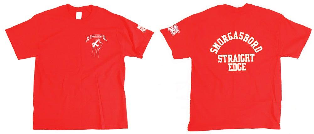 Image of SMORGASBORD STRAIGHT EDGE Shirt - Red/White