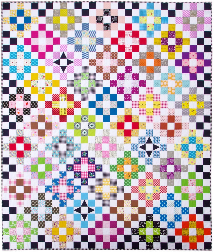 Image of Scrappy Day Trip Quilt Pattern (PDF FILE)