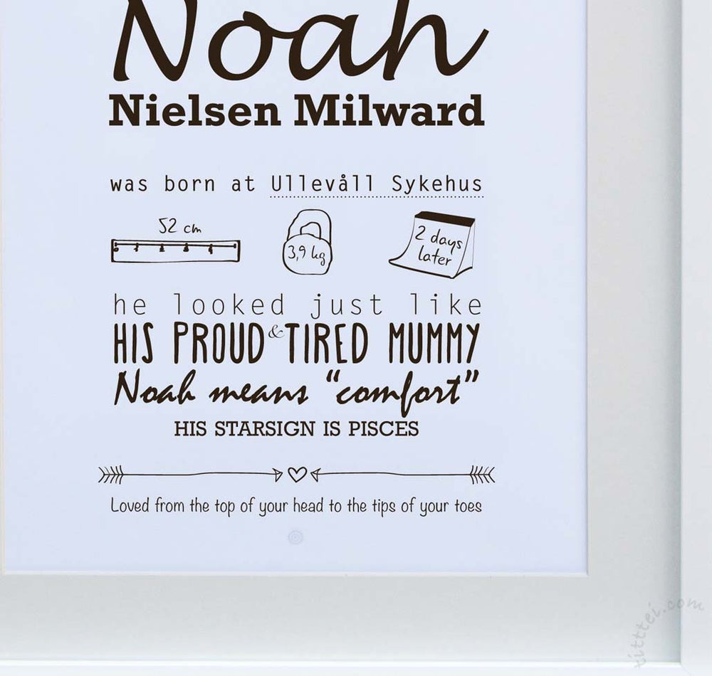 Image of Personalized birth poster - digital file