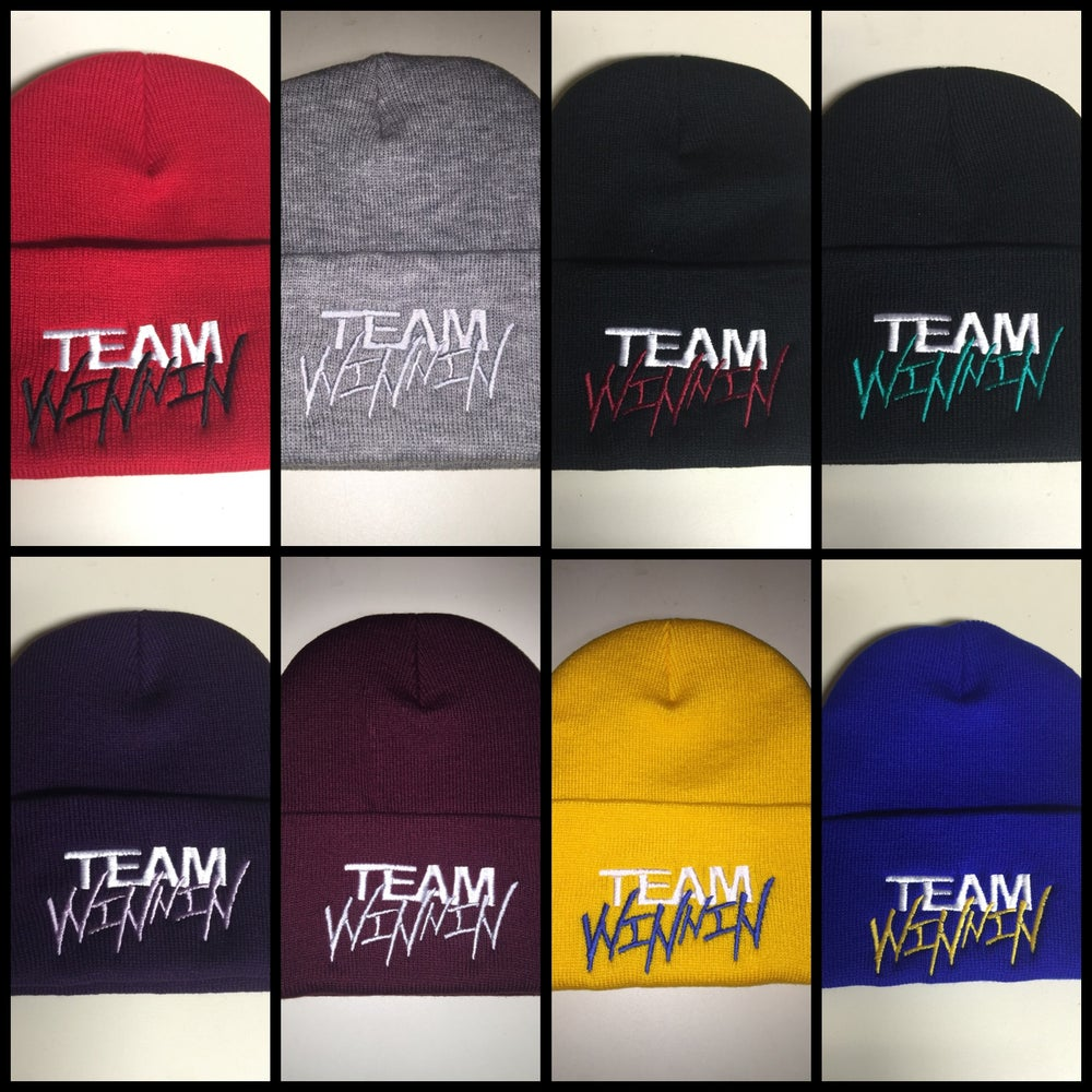 "Image of ""TEAM WINNIN"" Beanies (Email for custom colors)"
