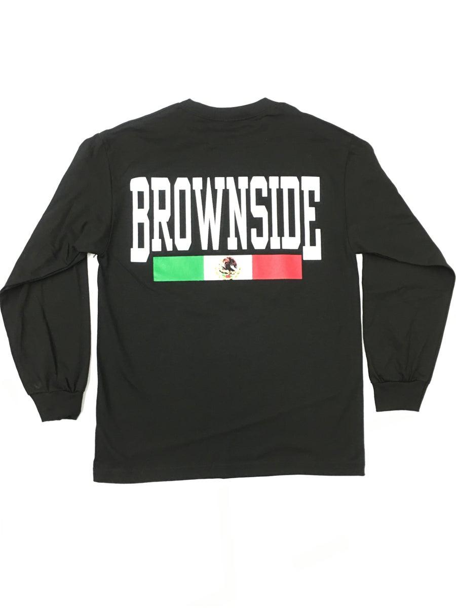 Image of Brownside logo long sleeve