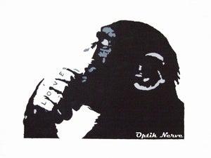 Image of Monkey Love (The Thinker)