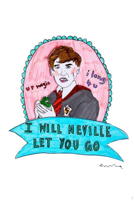 Image of I Will Neville Let You Go Card